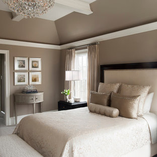 transitional master bedroom bed example of large transitional master carpeted bedroom design in philadelphia with beige walls transitional master bedroom houzz
