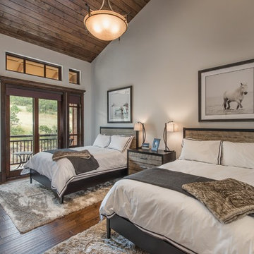 Transitional Mountain Penthouse - Guest Bedroom