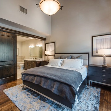 Transitional Mountain Penthouse - Master Bedroom
