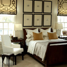 transitional bedroom by Robert Brown Interior Design