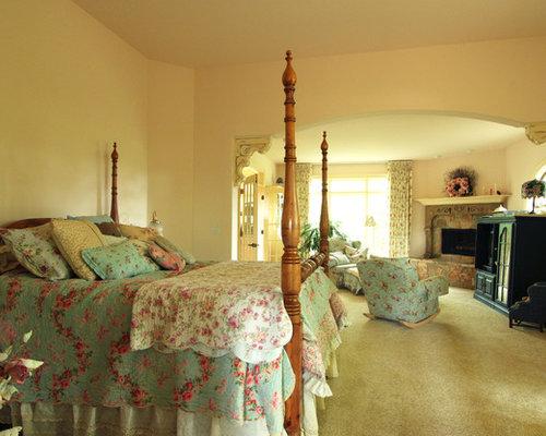 Yellow Country Bedroom Design Ideas Renovations amp Photos