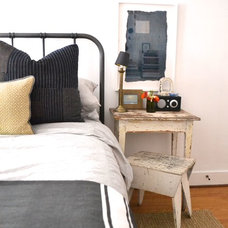 Eclectic Bedroom by BRIAN PAQUETTE INTERIORS
