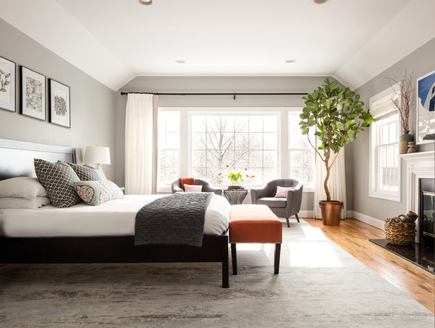 Transitional Bedroom by Christina Byers Design