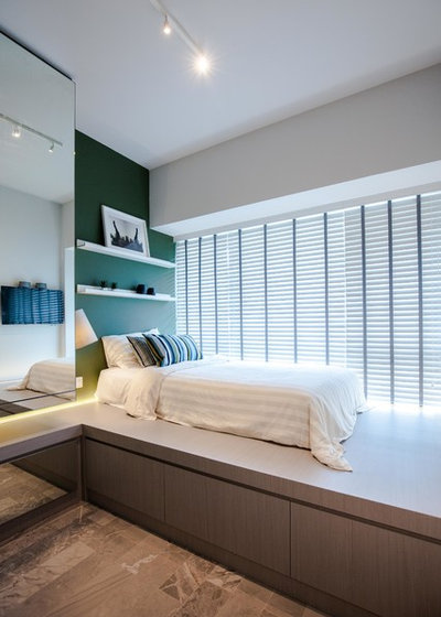 Contemporary Bedroom by SS + D