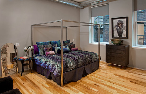 Industrial Bedroom by threshold interiors