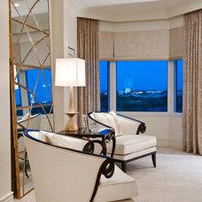 Traditional Bedroom by Barbara Rooch Interior Environments, Inc.