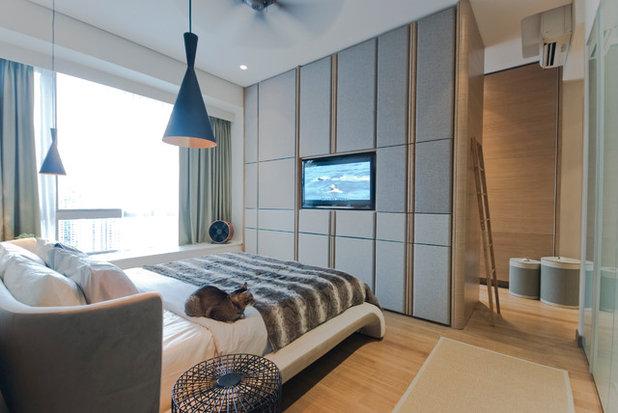 コンテンポラリー 寝室 by TOPOS Design Studio Pte Ltd