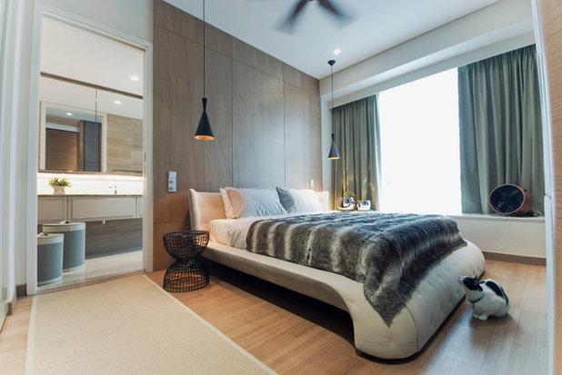 Contemporáneo Dormitorio by TOPOS Design Studio Pte Ltd