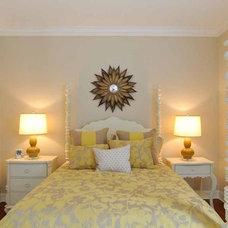 Tropical Bedroom by Lorrie Browne Interiors