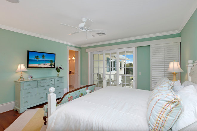 Tropical Bedroom by Weber Design Group, Inc.