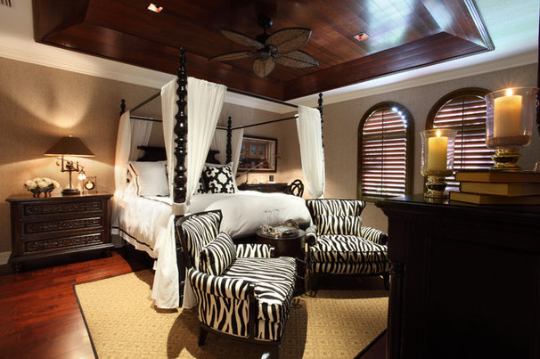 Tropical Bedroom by Brown's Interior Design