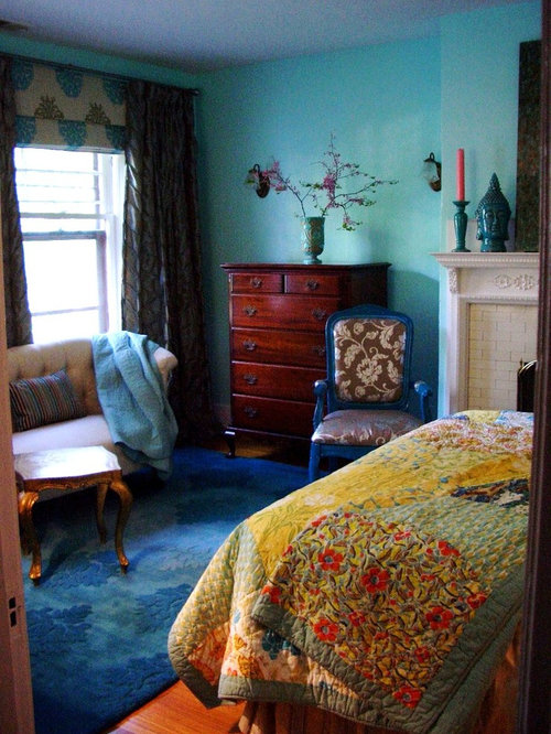 Eclectic bedroom design ideas renovations photos with a for Eclectic master bedroom ideas