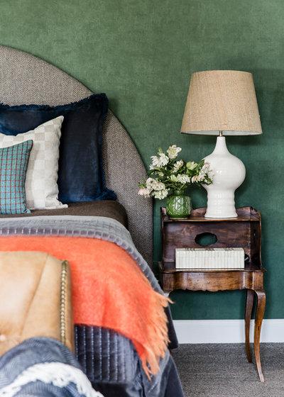 Transitional Bedroom by Lisa Burdus Interior Design
