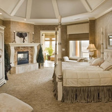 Mediterranean Bedroom by Karla Shone Designs