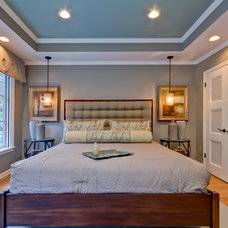Transitional Bedroom by Broderick Builders
