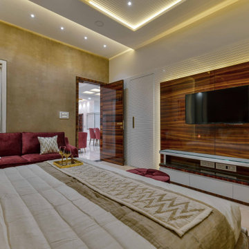 Ultra Luxury Modern Master Bedroom TV Unit