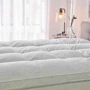 Bild på ett shabby chic-inspirerat sovrum
