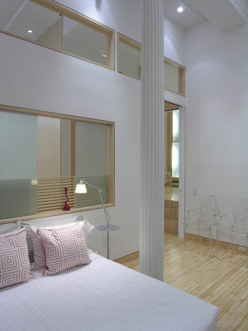 ides dco pour une chambre mansarde ou avec mezzanine scandinave avec un mur blanc et un