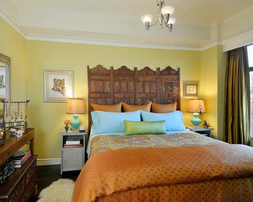 Camera Da Letto Etnica Ikea : Esempio di una camera da letto etnica con pareti gialle e