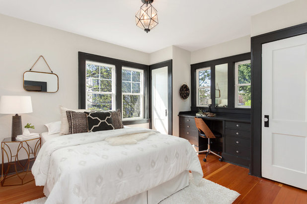 Transitional Bedroom by Seattle Staged to Sell and Design LLC