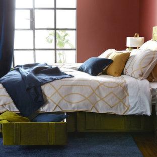 Camera da letto moderna con pareti rosse - Design, Foto e ...