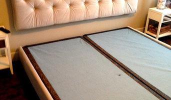 Upholstered King Size Head Board & Frame