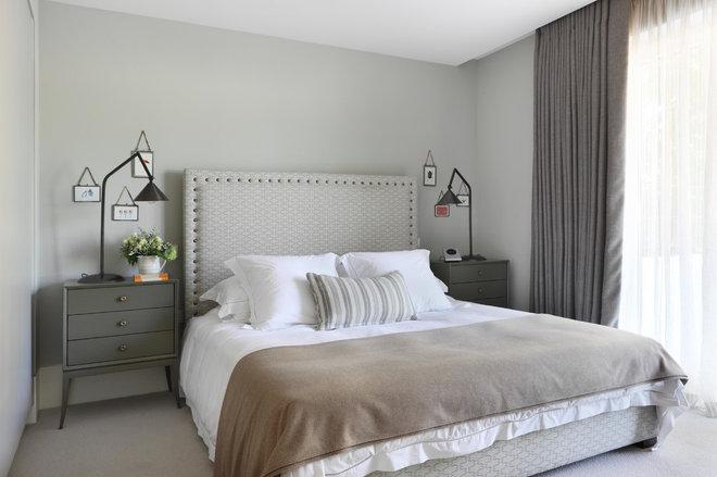 Transitional Bedroom by Turner Pocock