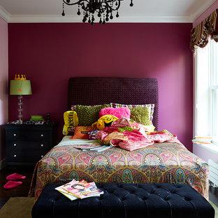 Пример оригинального дизайна: спальня в стиле фьюжн