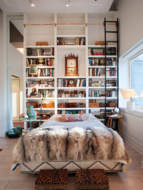Home library decorating ideas houzz for Bedroom ideas for book lovers