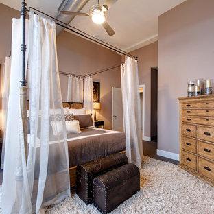 Foto de dormitorio tipo loft rural