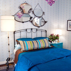 Eclectic Bedroom by Lisa Wolfe Design, Ltd