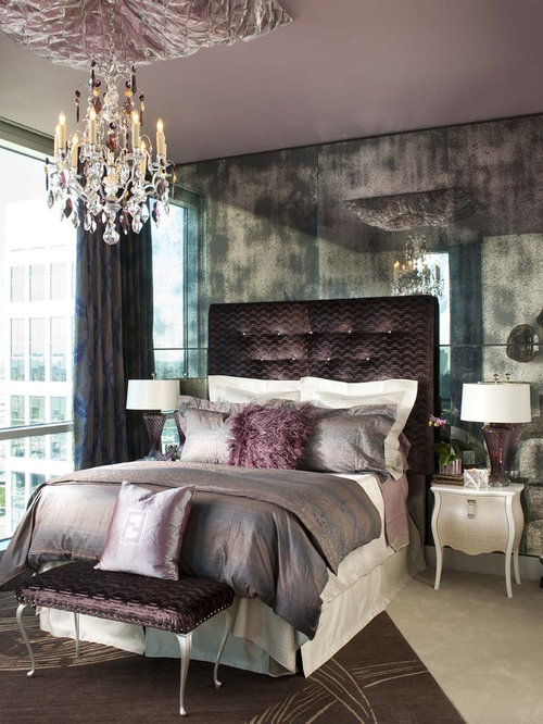 Trendy Bedroom Photo In Dallas With Gray Walls