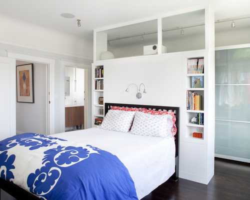 Closet Behind Bed Houzz