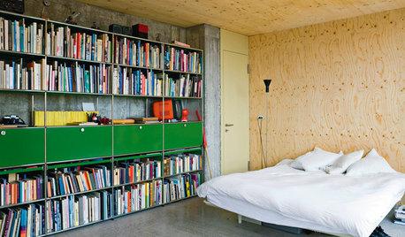 Nicht nur für lange Lesenächte: Schlafzimmer mit Bücherregalen