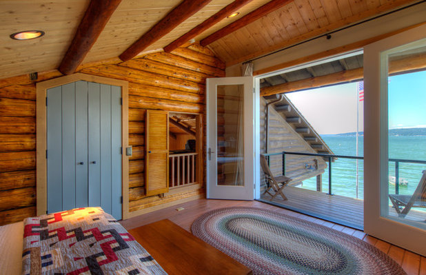 Rustic Bedroom by Dan Nelson, Designs Northwest Architects