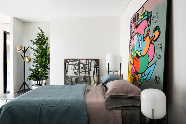 Eclectic Bedroom by TCR Design Group
