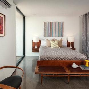 Bedroom - modern concrete floor bedroom idea in Phoenix