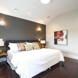 Gray Wall With Dark Furniture Houzz