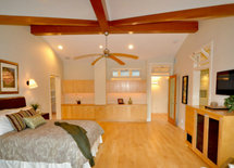 What is the stain color on the ceiling beams??