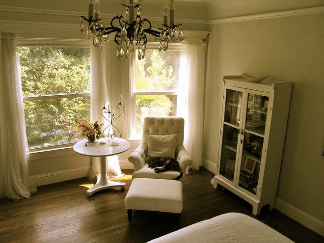 Romantic beach themed eclectic bedroom