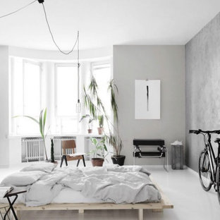Design ideas for a scandinavian bedroom in Sydney.