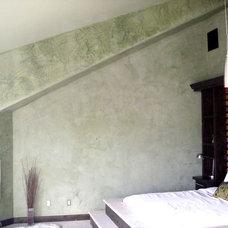 Contemporary Bedroom by Vasari Plaster