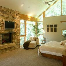 Contemporary Bedroom by Erotas Building Corporation
