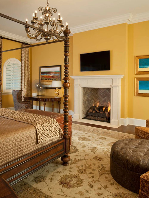 yellow bedroom | houzz