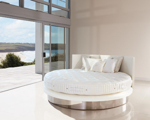 Modern round bed houzz for Unique master bedroom furniture