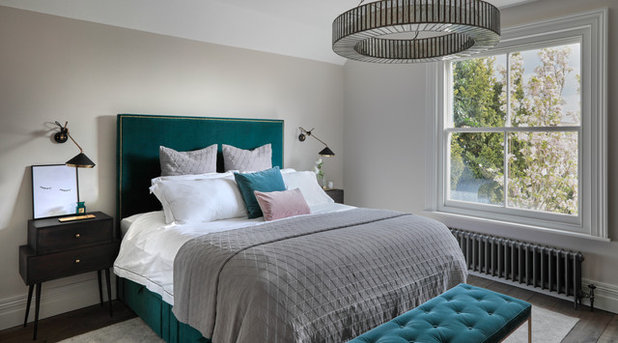 Transitional Bedroom by Cherie Lee Interiors