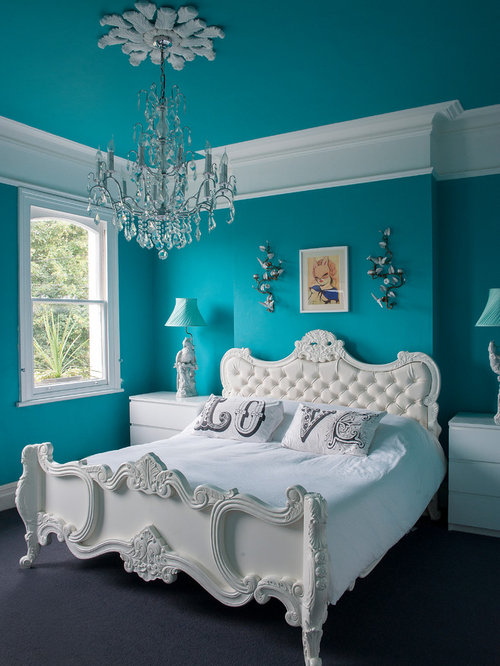 Turquoise girls bedroom home design ideas pictures for Aquamarine bedroom ideas