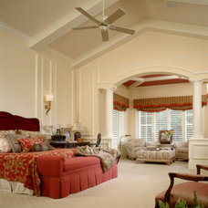 Mediterranean Bedroom by The Fechtel Company