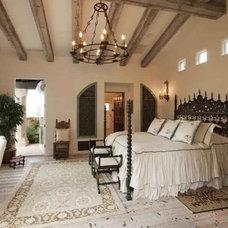 Mediterranean Bedroom by Paddle Creek Design