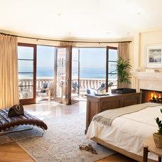 Mediterranean Bedroom by Kate Lester Interiors